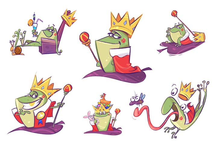 Thumbnail for The King - 6 Freestyle Illustrations
