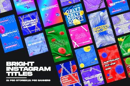Bright Instagram Titles