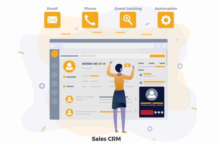 Thumbnail for Fresh Sales CRM Illustrations