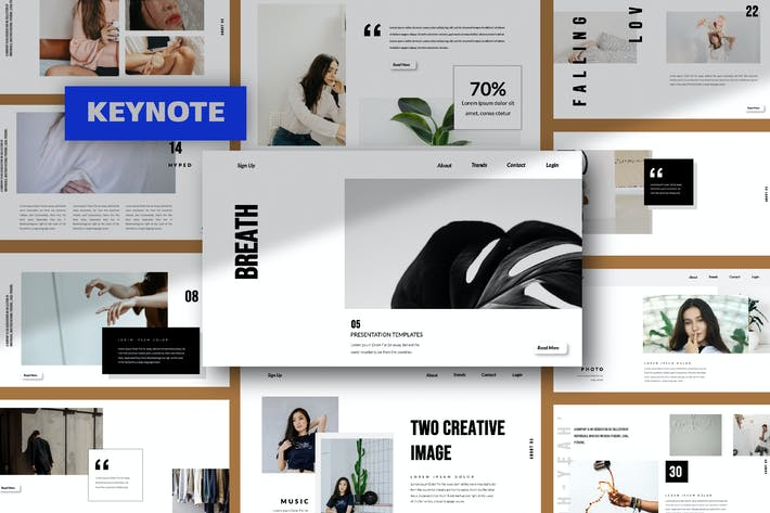 Thumbnail for Breath Keynote Template