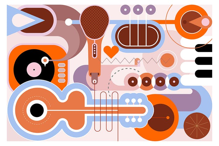 Thumbnail for Music Instruments vector illustration