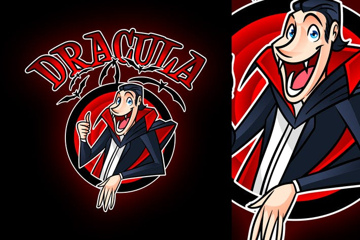 Thumbnail for Cartoon Dracula Logo