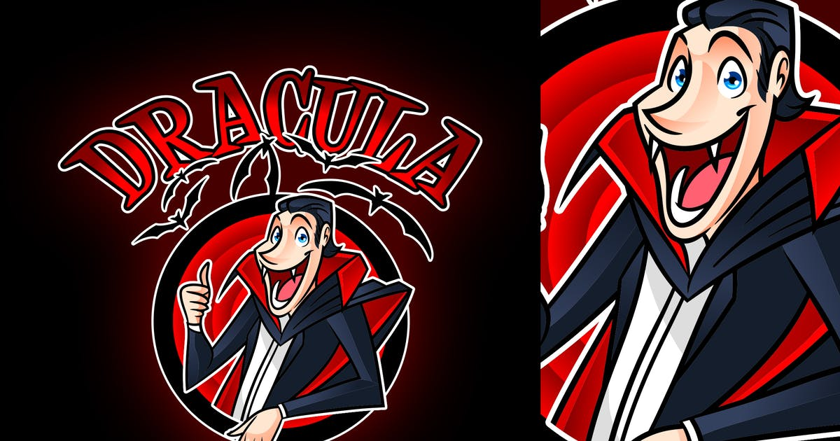 Cartoon Dracula Logo by Suhandi