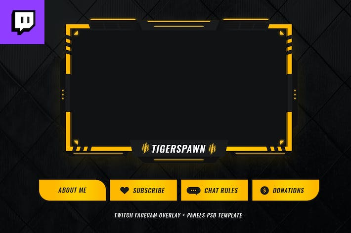 Thumbnail for Twitch Facecam Overlay V5