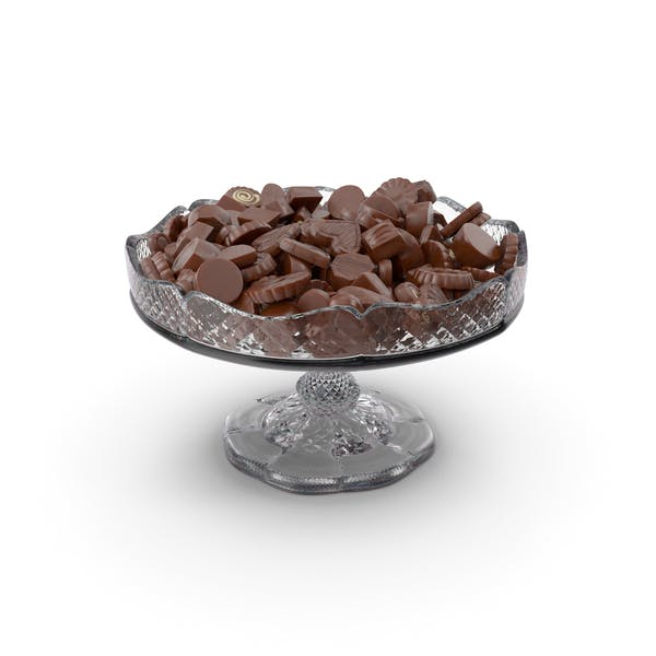 Fancy Crystal Bowl with Chocolate Truffles
