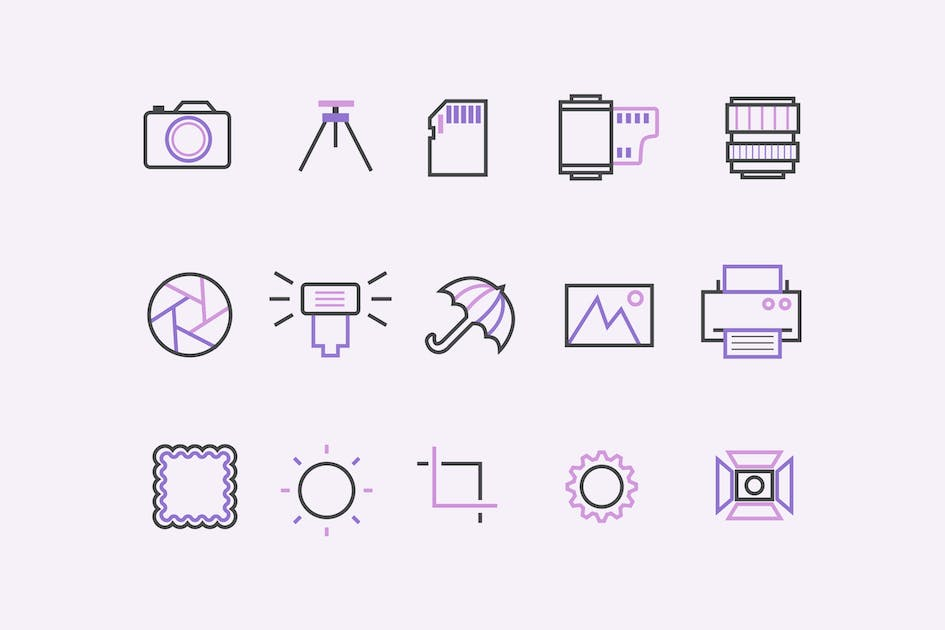 Download 15 Photography Icons by creativevip
