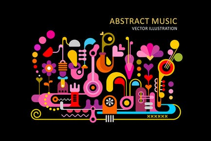 Abstract Colorful Music Backgrounds