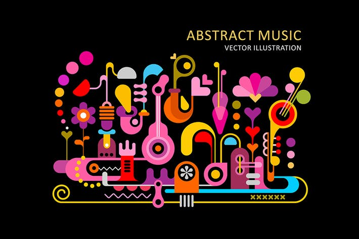 Thumbnail for Abstract Colorful Music Backgrounds