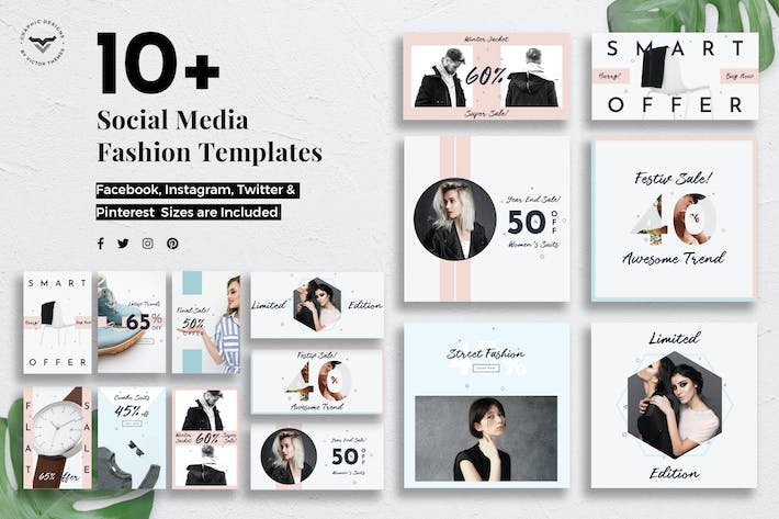 Cover Image For Social Media Fashion Templates