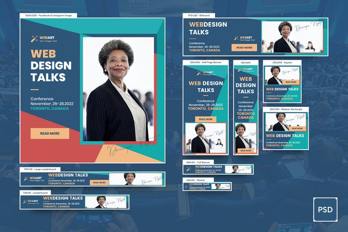 Thumbnail for Event Conference Banners Ad PSD Template