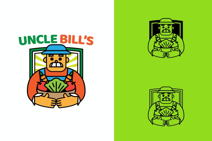 Thumbnail for UNCLE BILL FARM - Mascot & Esport Logo
