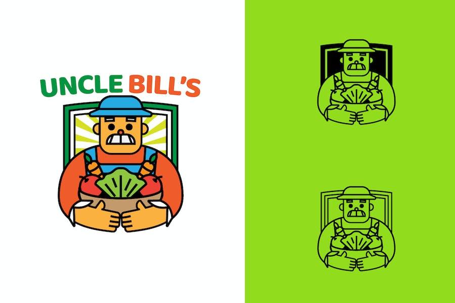 UNCLE BILL FARM - Mascot & Esport Logo