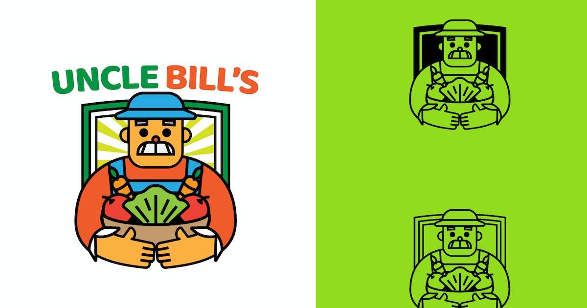Download UNCLE BILL FARM - Mascot & Esport Logo by aqrstudio