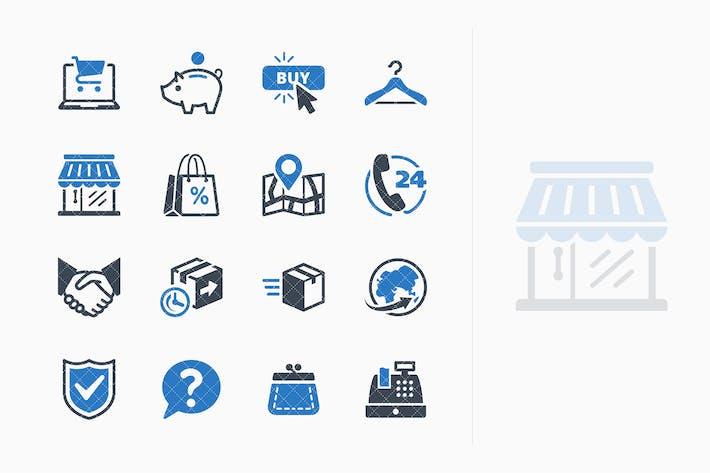 Thumbnail for E-commerce Icons Set 5 - Blue Series