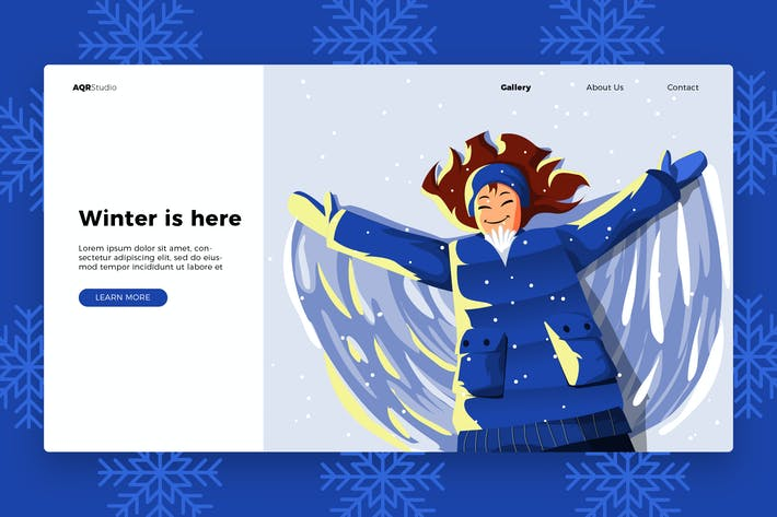 Thumbnail for Winter - Banner & Landing Page