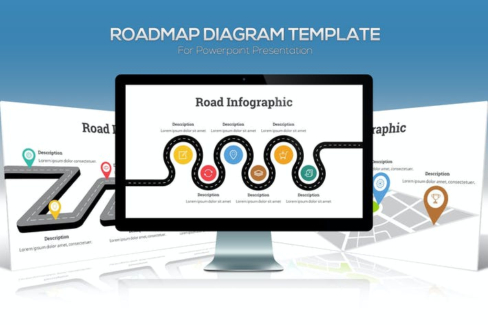 Thumbnail for Roadmap Diagram For Powerpoint Presentation