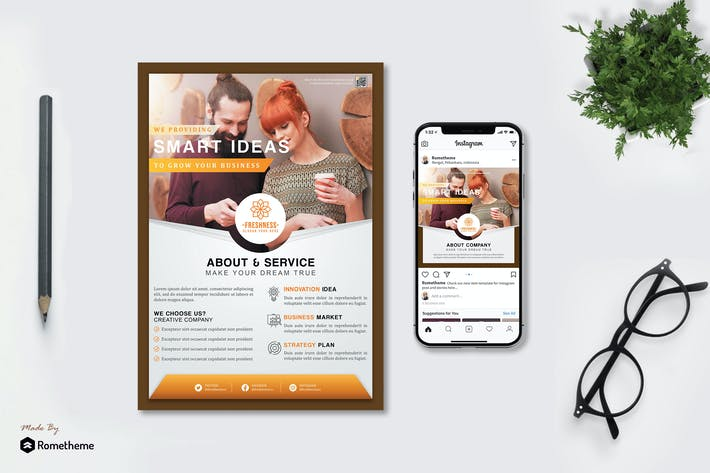 Thumbnail for Freshness - Business Flyer and Instagram Post HR