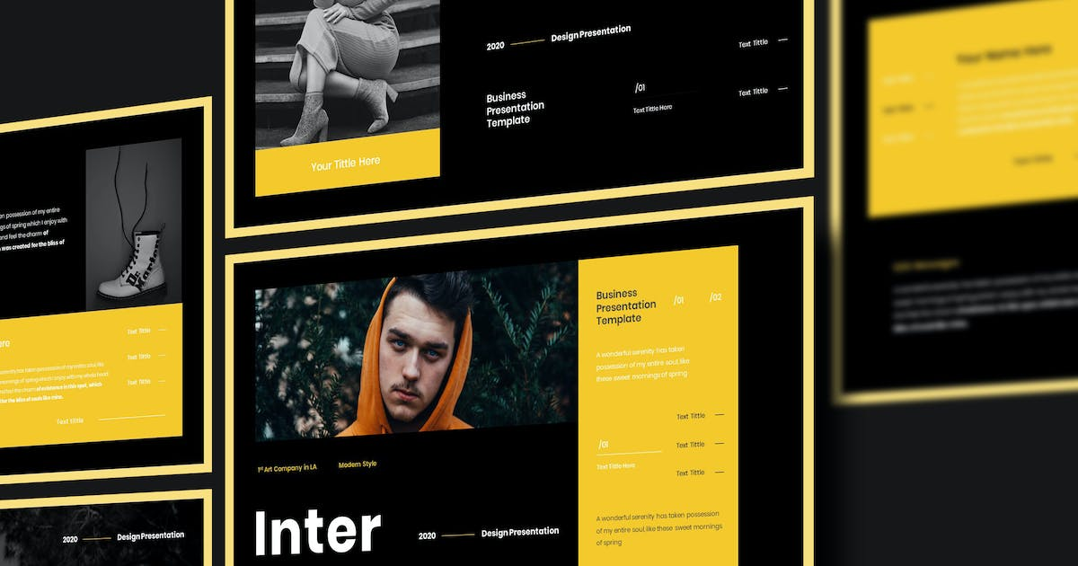Download Inter - Business Presentation PowerPoint Template by raseuki