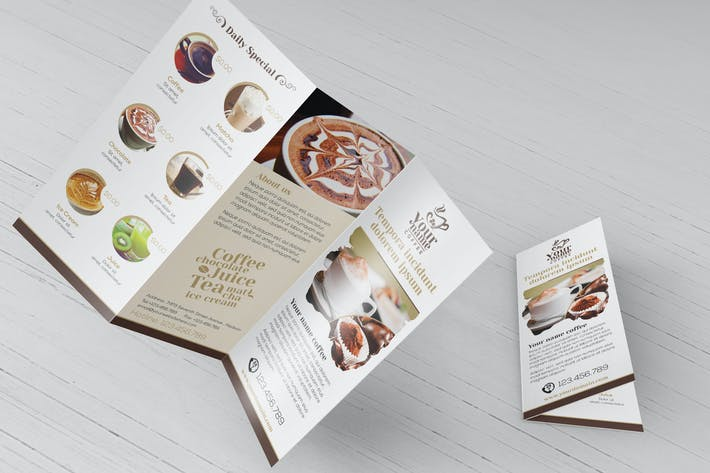 Thumbnail for Coffee Shop - Trifold Brochure Template