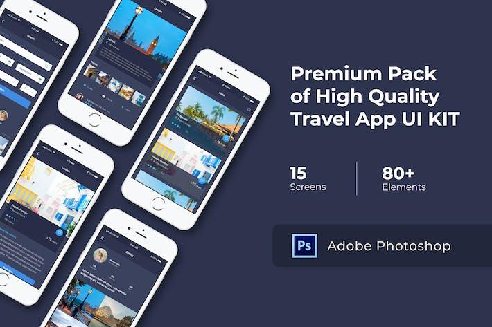 Thumbnail for Travel App UI KIT for Photoshop