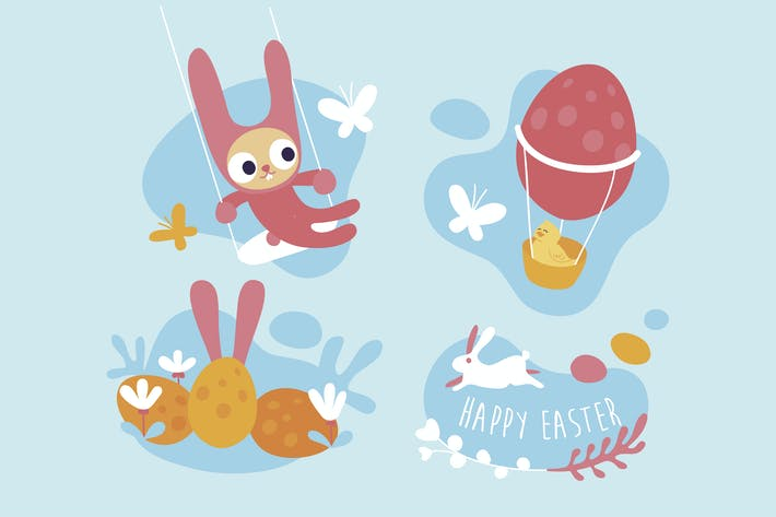 Cartoonish Easter