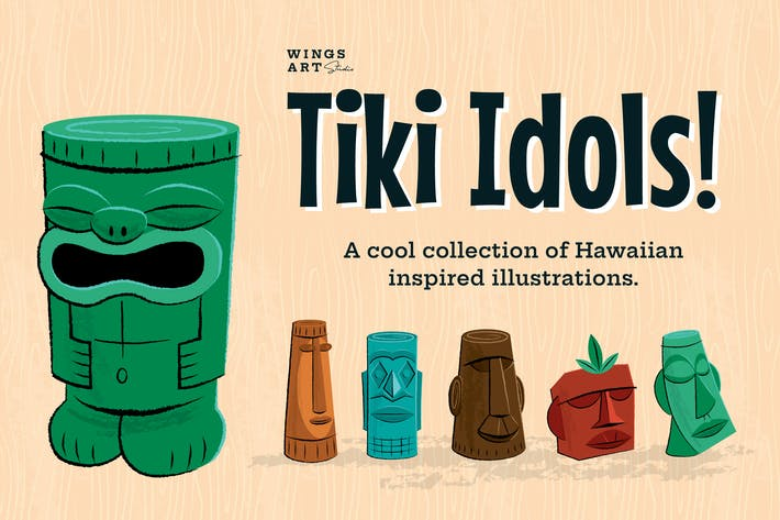 Cover Image For Tiki Idol Illustrations