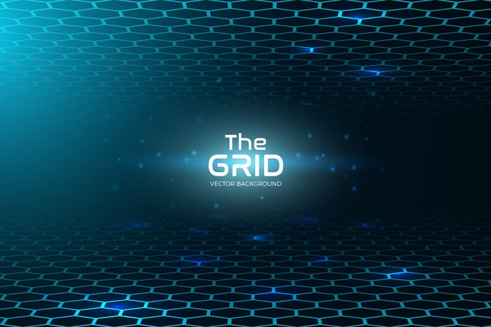 Thumbnail for Abstract Grid Vector Background