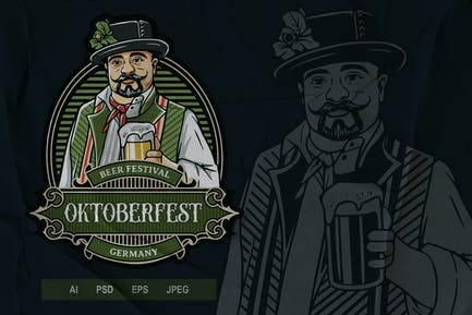 Vintage Emblem - Oktoberfest V2