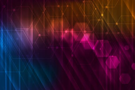 Abstract glowing technology background