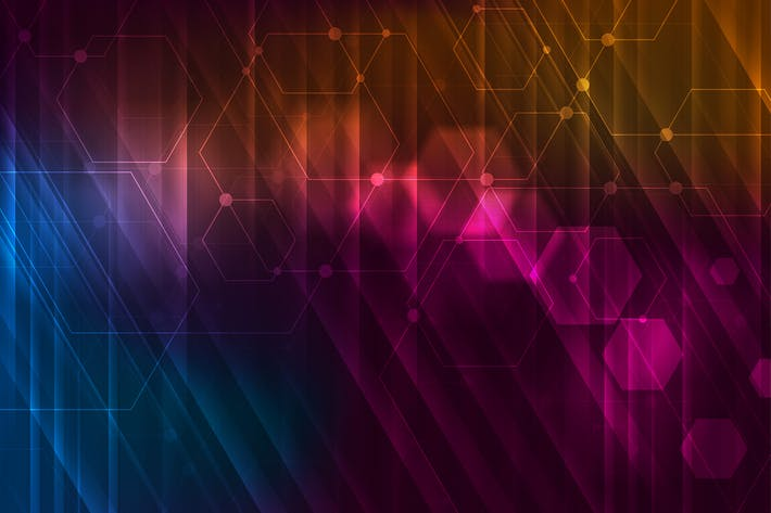 Thumbnail for Abstract glowing technology background