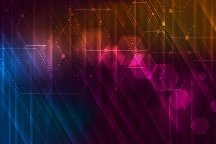 Thumbnail for Abstrakte glühende Technologie Hintergrund