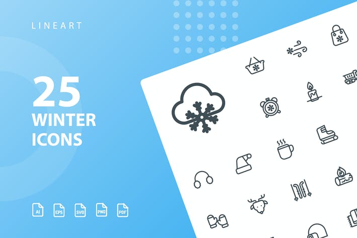 Thumbnail for Winter Lineart Icons