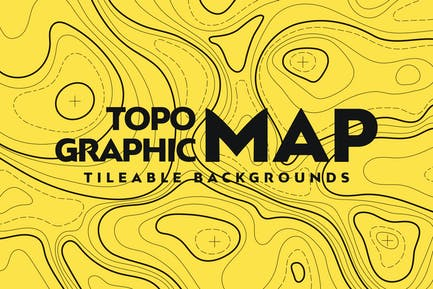 Topographic Map Seamless Patterns
