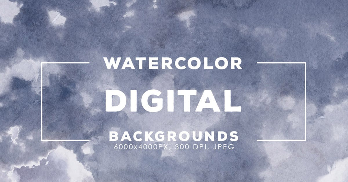 Download 30 Digital Watercolor Backgrounds by M-e-f