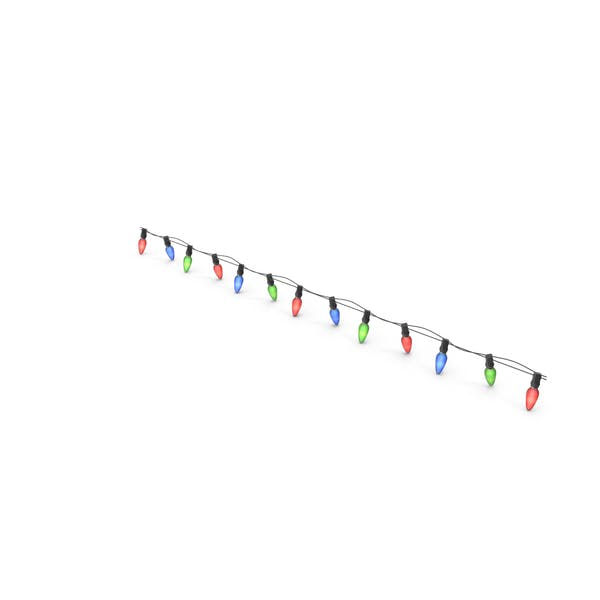 Струнные цветные лампочки с прямой линией
