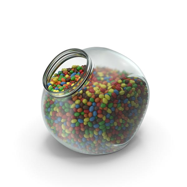 Cover Image for Spherical Jar with Peanuts with Colored Chocolate Coating