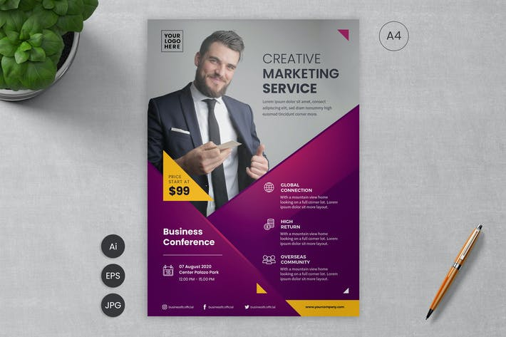 Thumbnail for Business Flyer Template 10 - Slidewerk