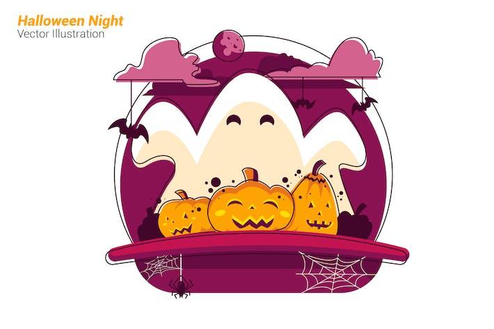 Thumbnail for Halloween Night - Vector Illustration