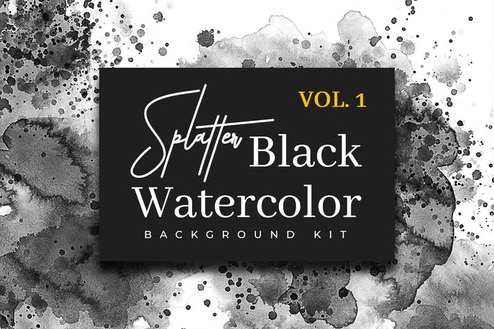 Thumbnail for Splatter Black Watercolor Vol. 1