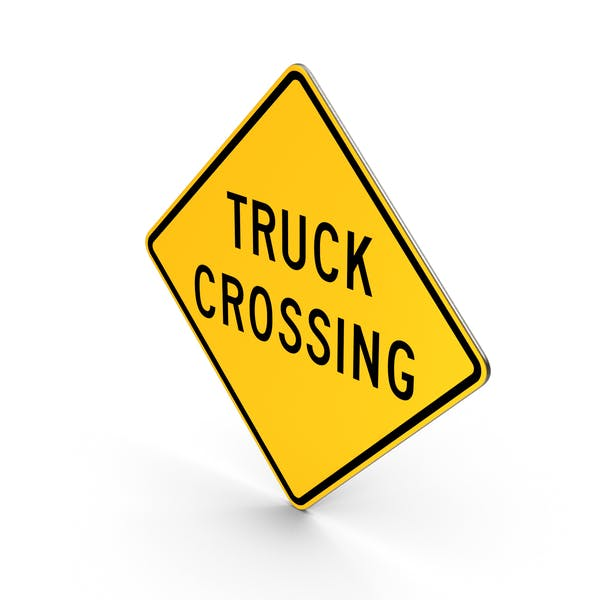 Truck Crossing Road Sign