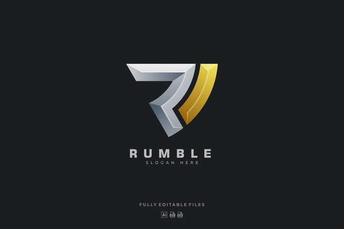 Thumbnail for Abstract Bold Letter Color Gradient Logo