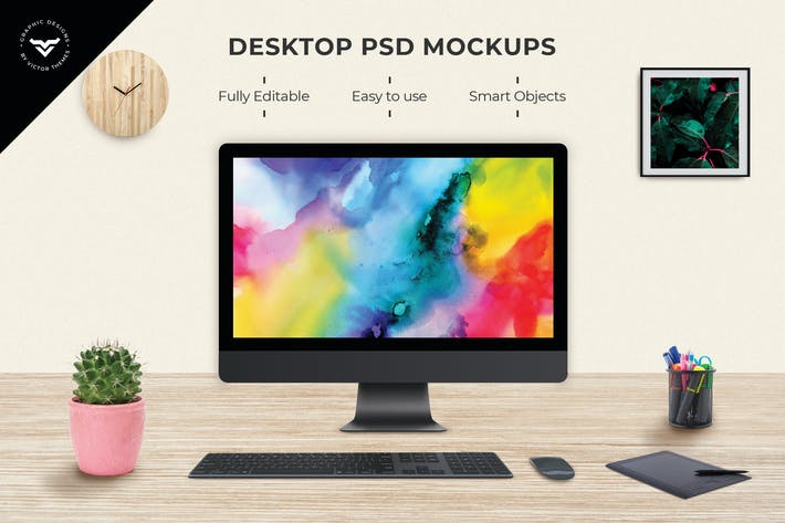 Thumbnail for Desktop Mockups
