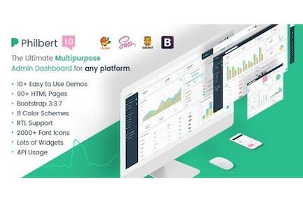 Philbert - Multipurpose Bootstrap Admin Dashboard
