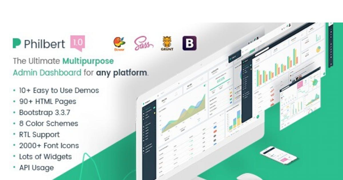 Download Philbert - Multipurpose Bootstrap Admin Dashboard by Hencework