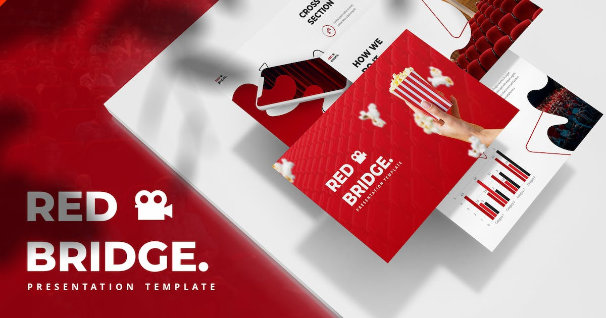 Download Red Bridge - Cinema Powerpoint Template by maghrib