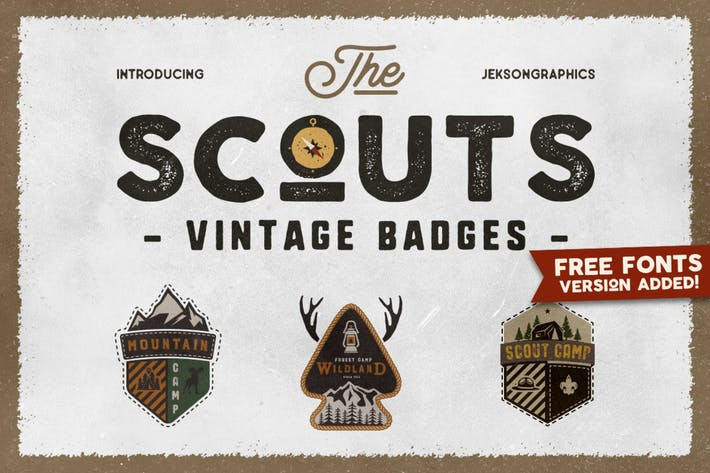 Thumbnail for Retro Scouts Badges, Camping Logos, Reise-Patch