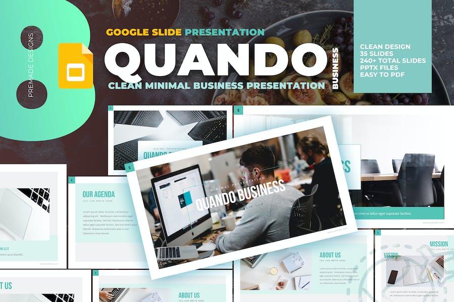 Quando - Clean and Minimal Google Slide Template
