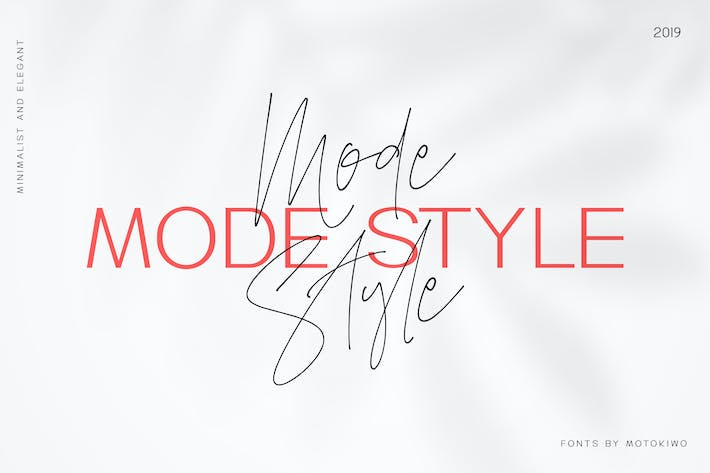 Thumbnail for Mode Style - Font Duo