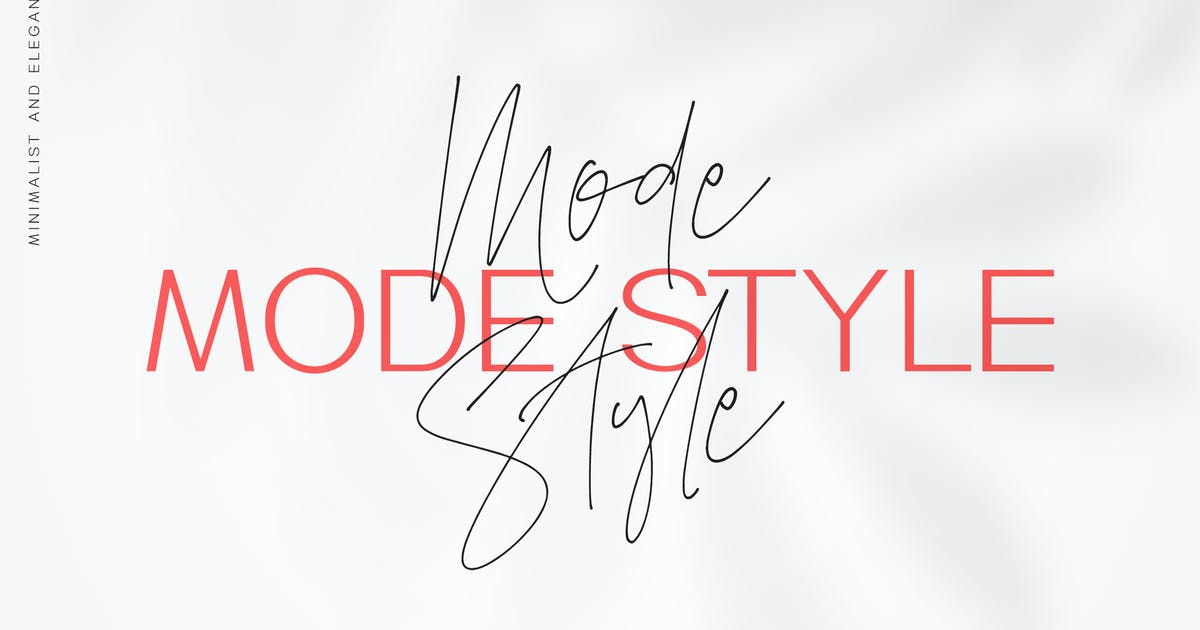 Download Mode Style - Font Duo by Motokiwo