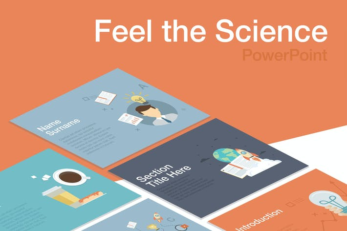 Thumbnail for Почувствуйте научный PowerPoint Шаблон